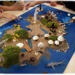 Ateleir carte au trésor réalisé avec des enfants de centres de loisirs