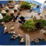 Atelier coopératif récupération éléments naturels pirates