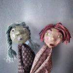 Duo de marionnettes filles expression orale