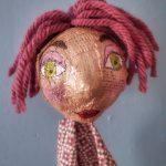 Portrait de marionnette créée lors d'un atelier créatif enfant ou adulte à Lille