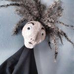 Marionnette papier mâché émotions expressions