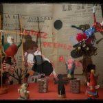 Photo de réalisations de marionnettes et autres personnages sur le thème du cirque