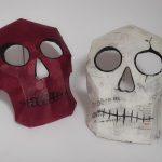 Masque tête de mort créé pour un atelier à la Fileuse