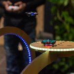 Plateforme imaginée et construite pour les parcours de mini drones