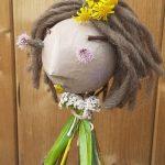 Photo de marionnette en végétaux et papier maché