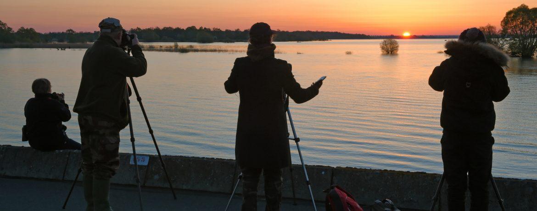 Photo d'un cours photo prise en début de journée, au levé de soleil sur un superbe paysage